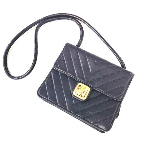 1124dda22079 CHANEL Handbags - Chanel VTG Chevron CC Push Lock Bag